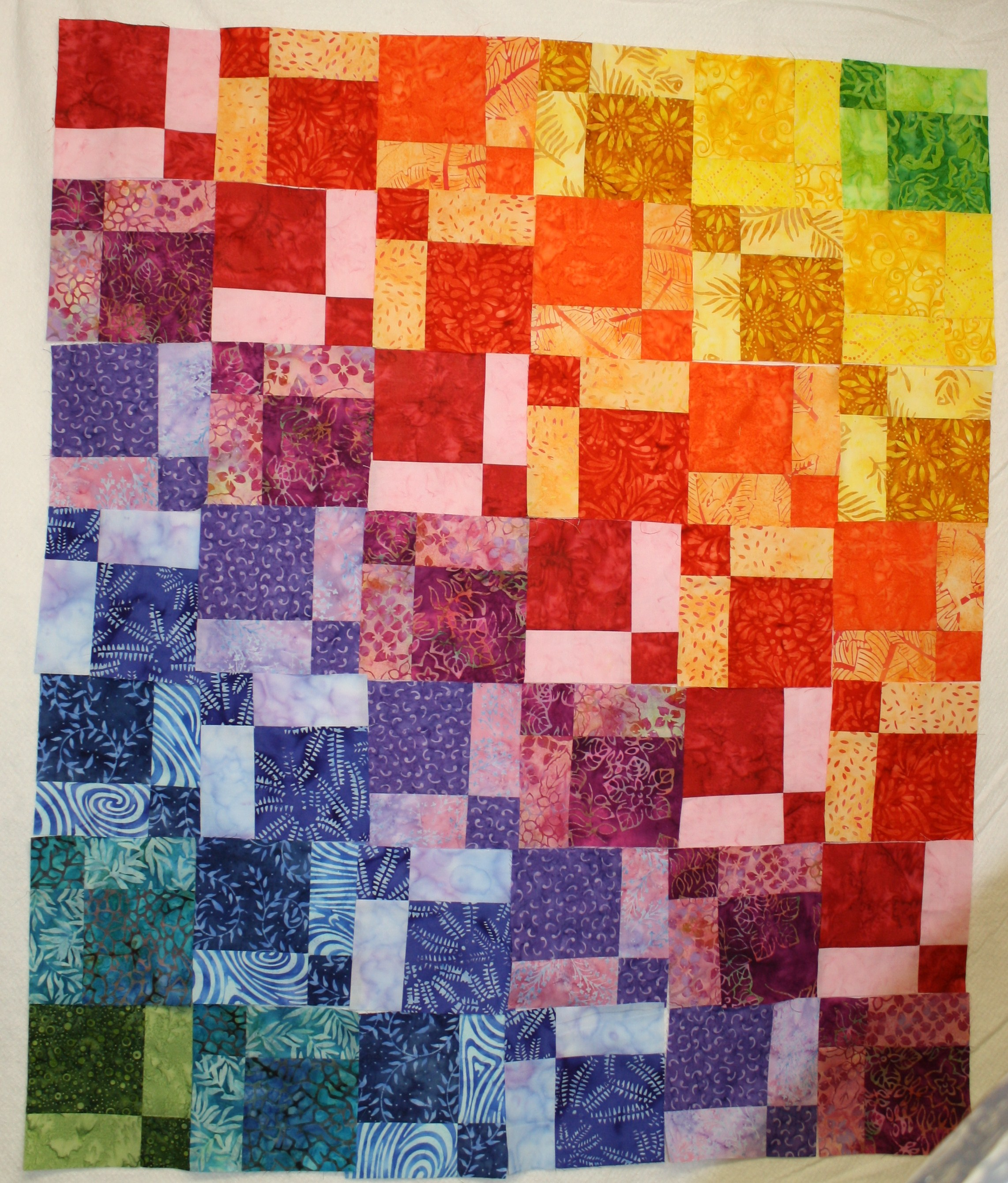 Quilt Disappearing Rainbow 171 Mary Anne S Quilting