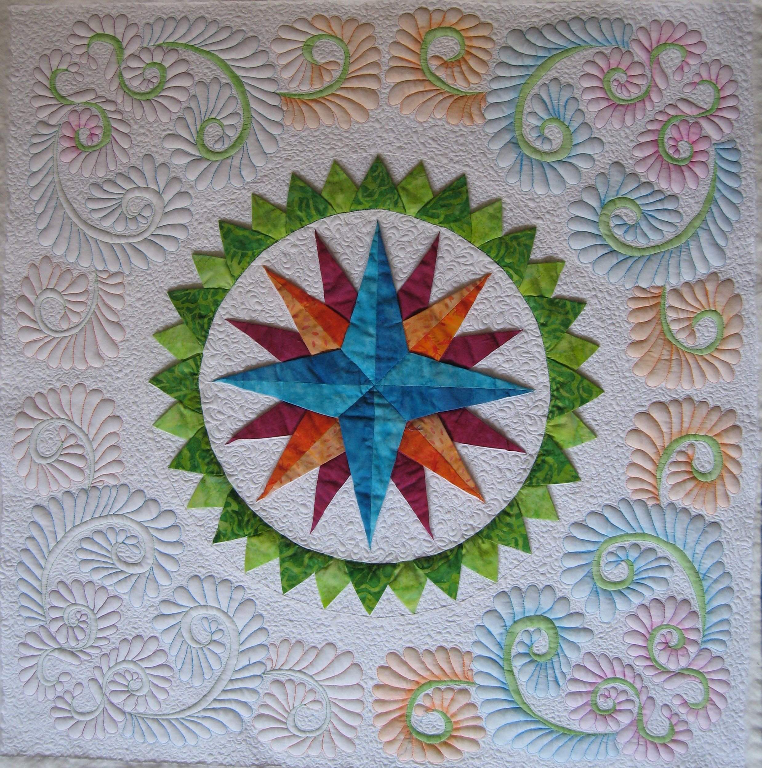 Quilt 3 D Mariners Compass Mary Annes Quilting Adventures And More